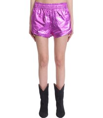 isabel marant gateci shorts in rose-pink cotton
