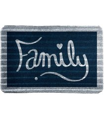capacho carpet family azul único love decor