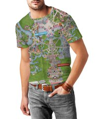 magic kingdom map disney mens cotton blend t-shirt