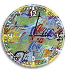 relógio de parede decorativo coca-cola colorido único