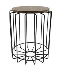 mesa de canto redonda para vasos, objetos, decoraçáo - lojas carisma