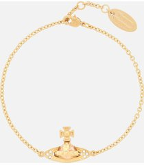 vivienne westwood women's pina bas relief bracelet - gold crystal