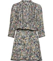 raspail crinkle flower dress dresses shirt dresses grå zadig & voltaire