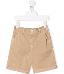 il gufo fitted chino shorts - brown