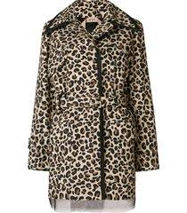 nº21 leopard print belted jacket - brown