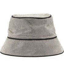 crystal mesh bucket hat