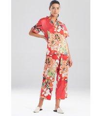natori enchanted lotus satin sleep pajamas & loungewear, women's, size 1x natori