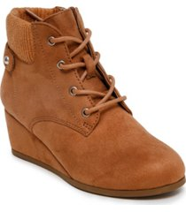 sugar little girls wedge lace up bootie