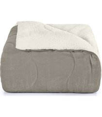 edredom king, hedrons, sherpa, 2,80 x 2,60, taupe
