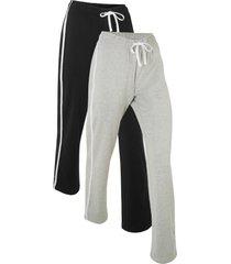 pantaloni in felpa di cotone livello 1 (pacco da 2) () - bpc bonprix collection