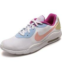 tenis lifestyle blanco-rosa-morado-azul nike air max oketo
