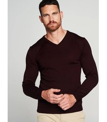michaelis pullover roest merino wol/acryl