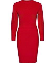 daisy dress sweater knälång klänning röd guess jeans