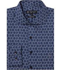 camisa dudalina manga longa cetim estampado floral masculina (estampado, 6)
