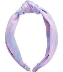 twelvenyc purple tie-dyed top knot hard headband