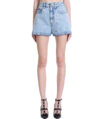 alessandra rich shorts in blue denim