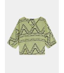 blusa con estampado pañoleta