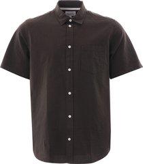 norse projects osvald seersucker shirt   beech   n40-0478 8109