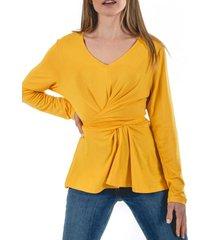 blusa lucrecia amarillo guinda