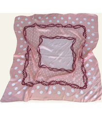pañuelo rosa nuevas historias cadenas y lunares ba536-24