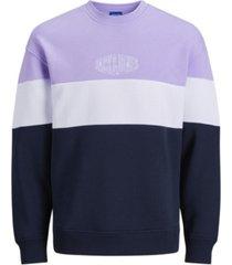 jack & jones men's wilson stripe sweatshirt