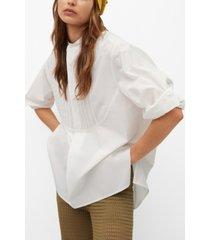 mango oversize poplin shirt