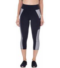 calça corsário com bolso preto - 598.814 marcyn fitness calças e leggings preto
