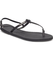 hav you riviera shoes summer shoes flat sandals svart havaianas