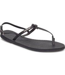 hav you riviera shoes summer shoes flat sandals svart havaianas