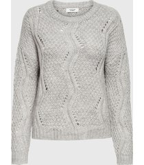 sweater jacqueline de yong gris - calce regular