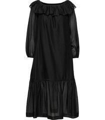 sonia off-shoulder dress dresses cocktail dresses svart designers, remix