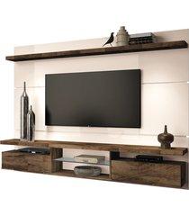 painel home suspenso 2.2 para tv atã© 60 sala de estar lennon off white/deck - gran belo - off-white - dafiti