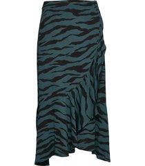 2nd francine zebra knälång kjol grön 2ndday