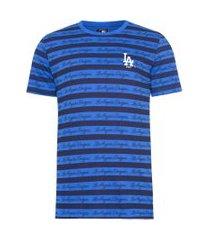 camiseta masculina all over lettering losdod - azul