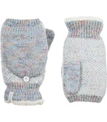 isotoner signature women's recycled yarn knit flip-top mittens