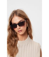 womens tort you knew tinted cat-eye sunglasses - brown