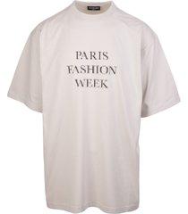 balenciaga unisex grey fashion week shrunk t-shirt