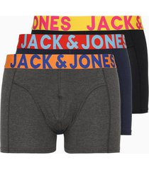 jack & jones jaccrazy solid trunks 3 pack noos boxershorts multicolor