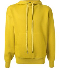 caban knitted relaxed-fit hoodie - yellow