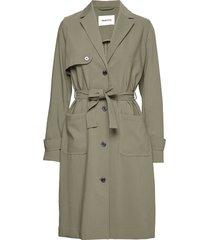 ramona jacket trenchcoat lange jas groen modström