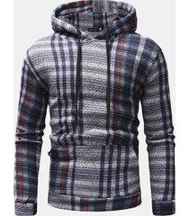 felpa a righe pullover casual felpa a maniche corte con coulisse