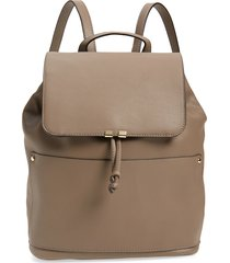 sole society faux leather backpack - grey