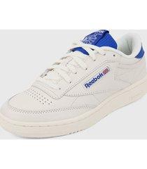 tenis lifestyle blanco-azul reebok club c 85
