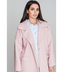 płaszcz klasyczny z kieszeniami na guzik oversize