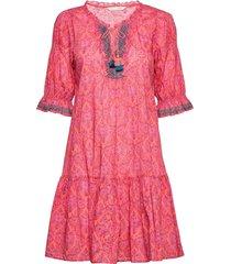 isabelle dress knälång klänning orange odd molly