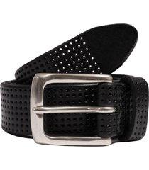 anderson's belts perforated leather belt | black | af3392-n1 pl100