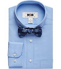 joseph abboud boys blue dress shirt & bow tie set