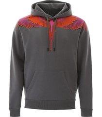 marcelo burlon red wings print hoodie