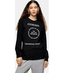 2nd life long sleeve skater t-shirt in black - black