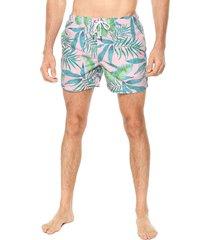 traje de baño rosado-verde-azul ocean pacific